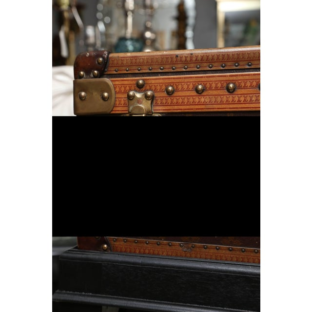 Vintage Louis Vuitton Hard Cover Suitcase Mounted as a Table For Sale In West Palm - Image 6 of 9