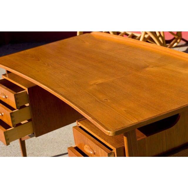 Danish Teak Desk in the Style of Kai Kristiansen For Sale In Los Angeles - Image 6 of 8