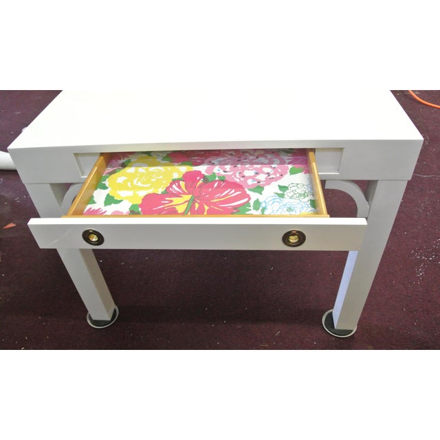 Boulevard Parsons Table by Lilly Pulitzer For Sale - Image 4 of 13