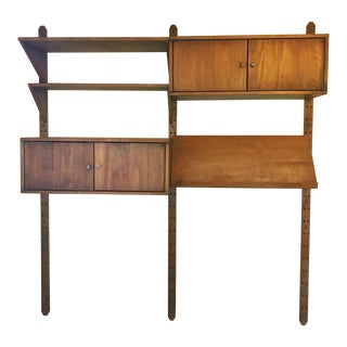 1950s Mid-Century Modern Adjustable Wall Unit For Sale