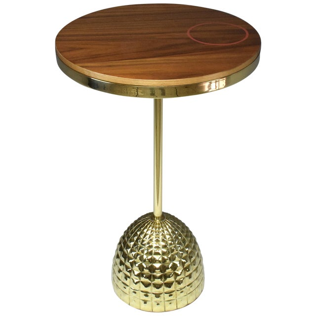 Unio Contemporary Brass Charging Table, Flow Collection For Sale
