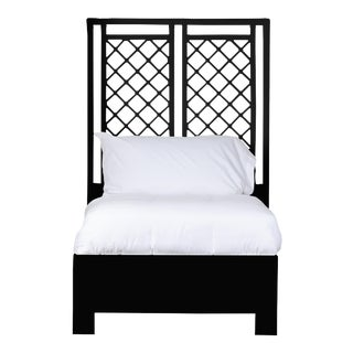 X & Diamond Bed Twin - Black For Sale