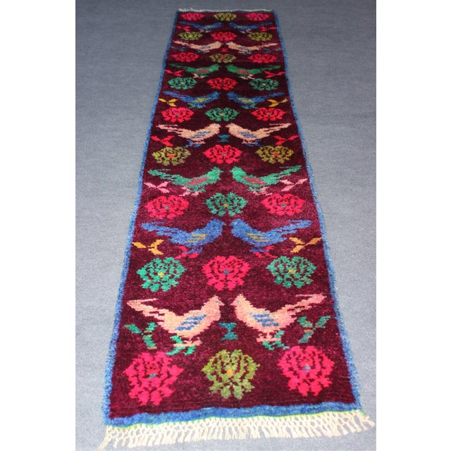 Vintage Turkish Bird Motif Tulu Rug - 2′8″ × 11′6″ - Image 11 of 11