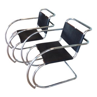 Mies Van Der Rohe Mr20 Cantilever Chairs- a Pair For Sale