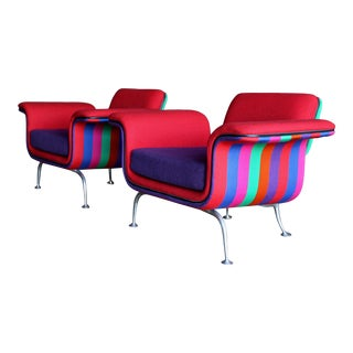 Alexander Girard Lounge Chairs, Model 66301 for Herman Miller Circa 1967 ( a Pair ) For Sale