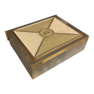 Silver Gucci Box Italy 1970s For Sale