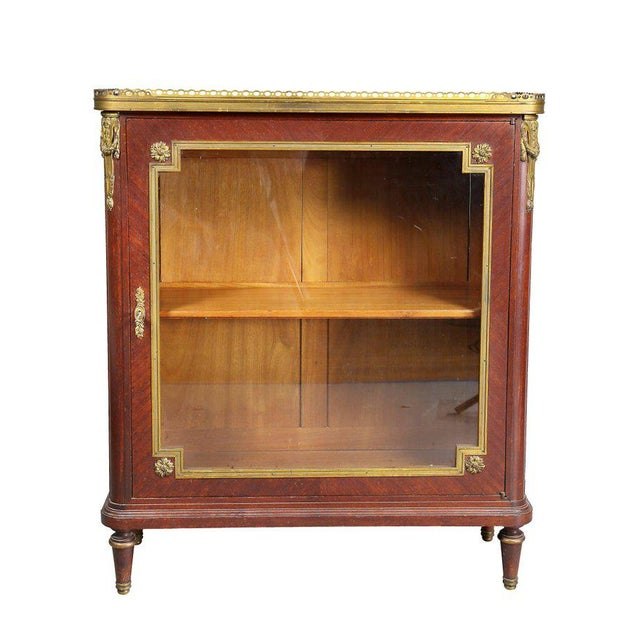 Louis XVI Style Tulipwood and Ormolu-Mounted Petit Cabinet For Sale - Image 10 of 10