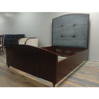 Henredon Furniture Reference by Patrick Aubriot Rosewood King Upholstered Panel Bed Preview