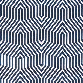Schumacher X Mary McDonald Vanderbilt Velvet Fabric in Bleu For Sale