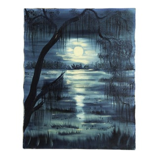 Vintage Oil Painting of Swamp For Sale