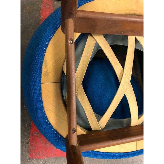 Hans Olsen Fried Egg Chair With Teak Frame, Circa 1956 For Sale In Philadelphia - Image 6 of 10