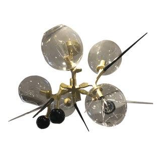 Industrial Brass Gold Lighting Fixture For Sale