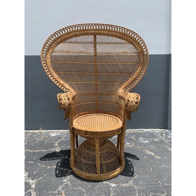 Vintage Wicker Peacock Chair For Sale - Image 12 of 12