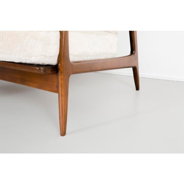 Ib Kofod-Larsen for Selig Teak Wood Sofa For Sale - Image 9 of 13