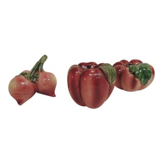 Set of 3 Hand Painted Vintage Ceramic Vegetables