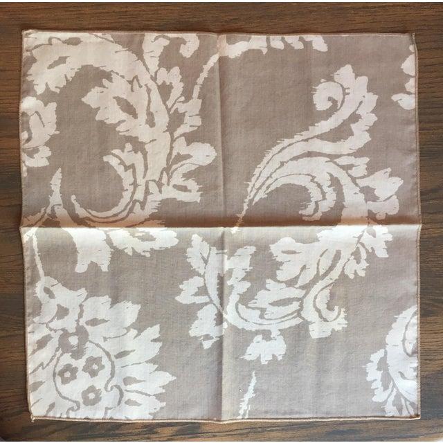 Vintage Taupe Ikat Napkins - Set of 4 - Image 5 of 7