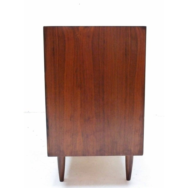 Walnut Three-Drawer Bachelor Dresser Chest - Image 8 of 10