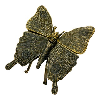 Vintage Italian Brass Butterfly Box