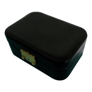 Tiffany & Co. Black Leather Jewelry Box Case For Sale