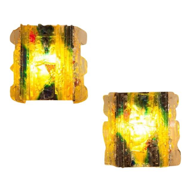 """Pair of RAAK Glass """"Chartres"""" Sconces - Image 1 of 3"""