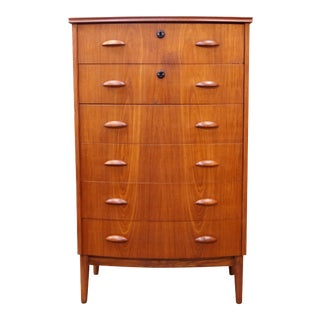 Original Danish High Boy Teak Dresser - Tony