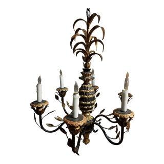 Vintage Hollywood Regency Pineapple Chandelier For Sale