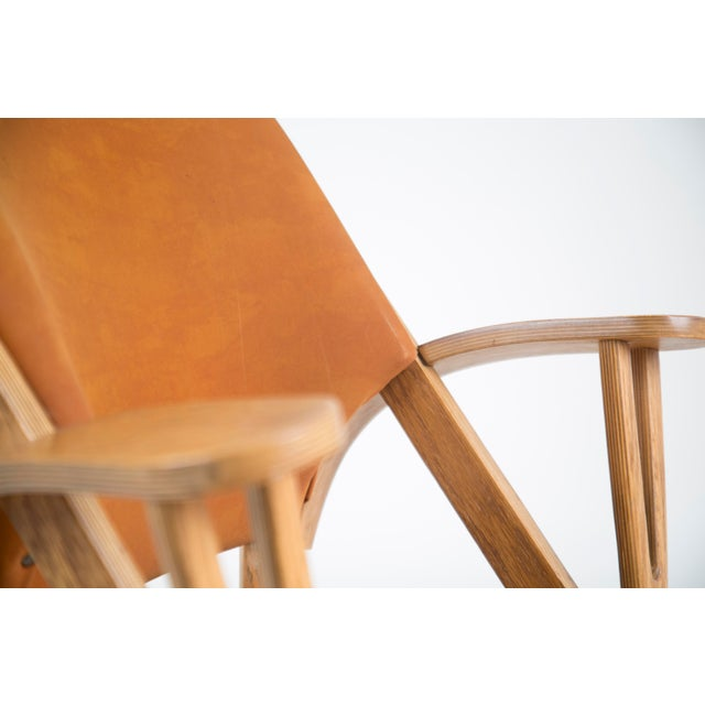 Orange Norman Ridenour Bentwood Low Armchairs - A Pair For Sale - Image 8 of 13