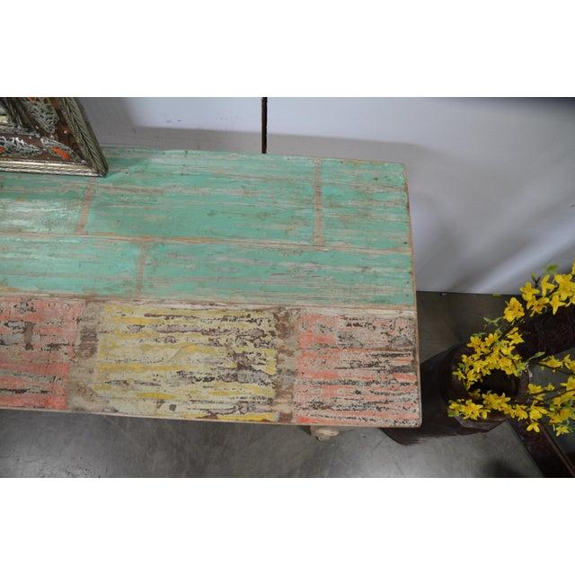 Paint Vintage Teak Console For Sale - Image 7 of 12