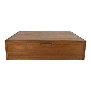 1950s Svend Langkilde Rosewood Jewelry Box With Interior Mirror