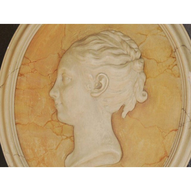 Vintage English Plaster Bust Relief - Image 3 of 4