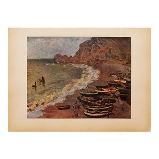 "1930s Claude Monet, Rare Original ""The Villers Beach"" Lithograph For Sale"