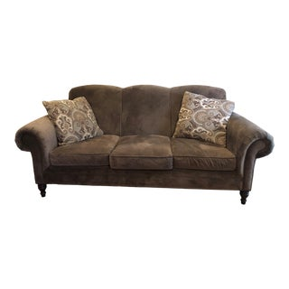 Bernhardt Brown Traditional Sofa For Sale