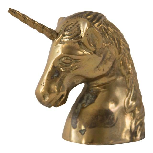 Vintage Brass Unicorn Head Figurine - Image 1 of 4