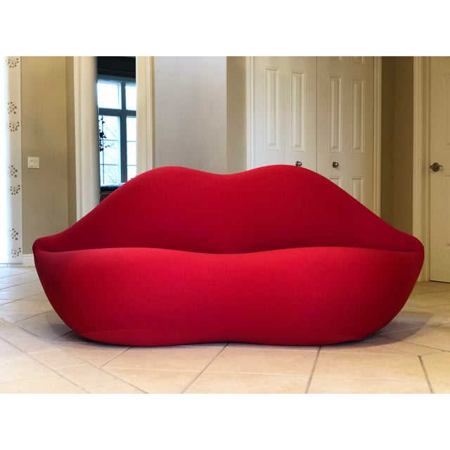 We are very pleased to offer a cult icon of modern furniture design and an acclaimed symbol of contemporary art, the Bocca...