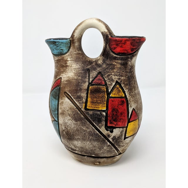 Ceramic Vintage Abstract Ceramic Vase For Sale - Image 7 of 7