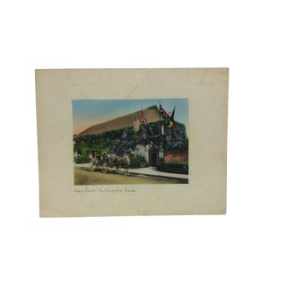 "Vintage Mid-Century ""Oldest House Saint Augustine Florida"" Hand-Colored Photograph For Sale"