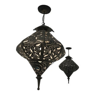 Moroccan Hanging Lanterns - a Pair For Sale