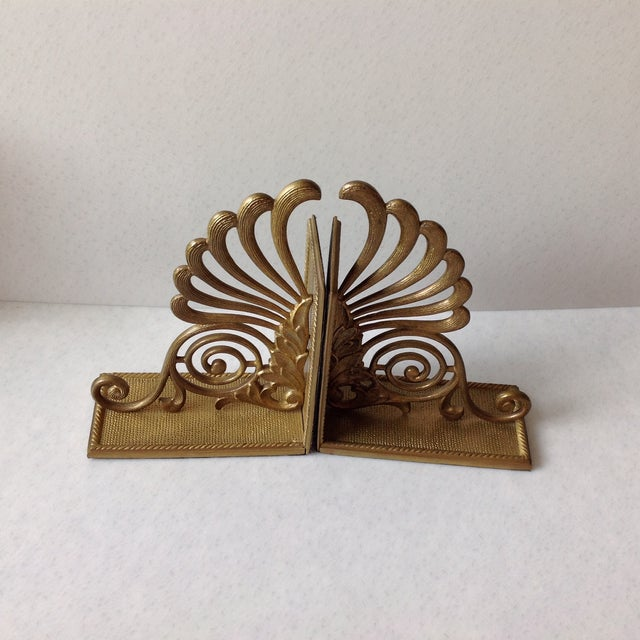 Antique Brass Radius Bookends - A Pair - Image 10 of 11