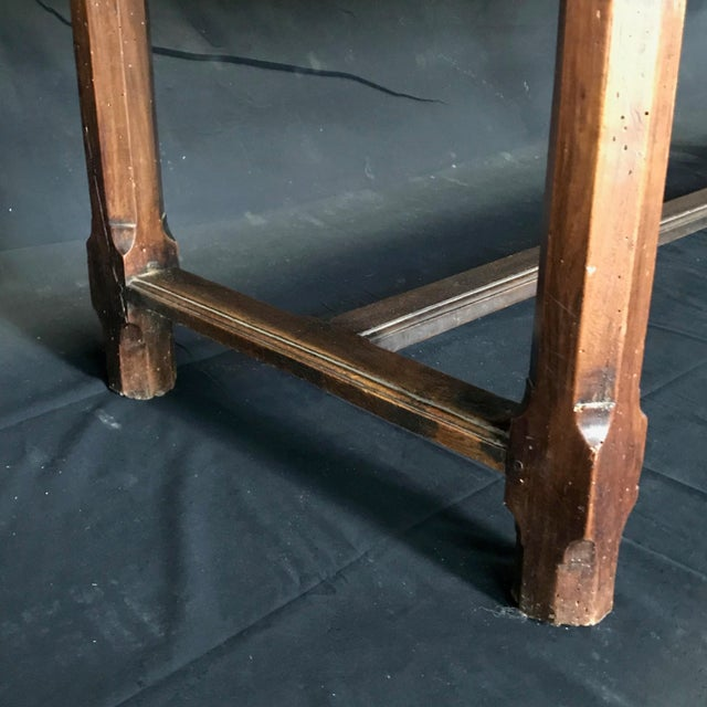 Early 19th Century Early 19th Century Oak Farm Table With Sliding Drawers For Sale - Image 5 of 13