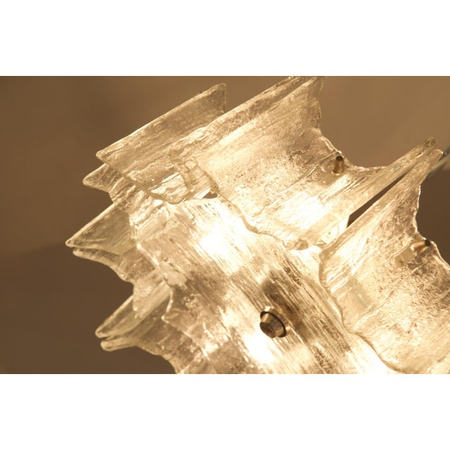 Silver Glass chandelier by JT Kalmar For Sale - Image 8 of 11