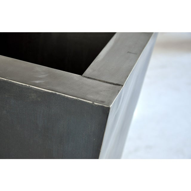 Contemporary Giant Pyramid Steel Box Planter For Sale - Image 3 of 4
