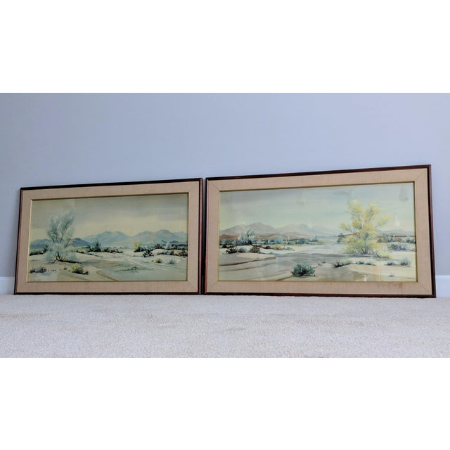Evelyn E. McGinnis Mid-Century Watercolor Paintings - A Pair For Sale - Image 11 of 11