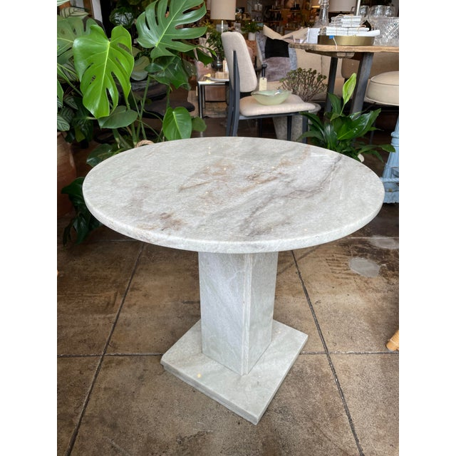Neoclassical Circular Marble Side Table For Sale - Image 10 of 10