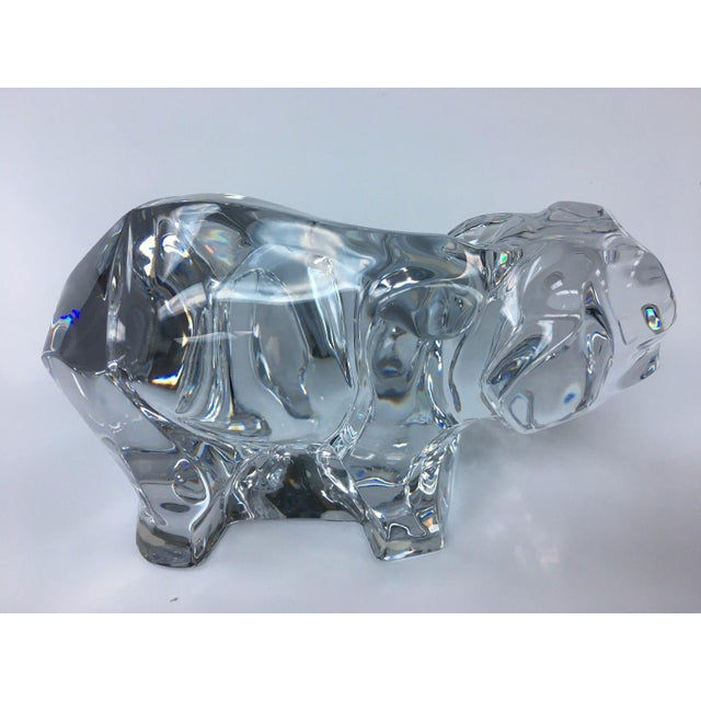 Baccarat Crystal Elephant With Baby For Sale - Image 5 of 7