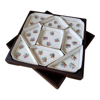 Boxed Chinese Export Sweet Meat Dish Set For Sale