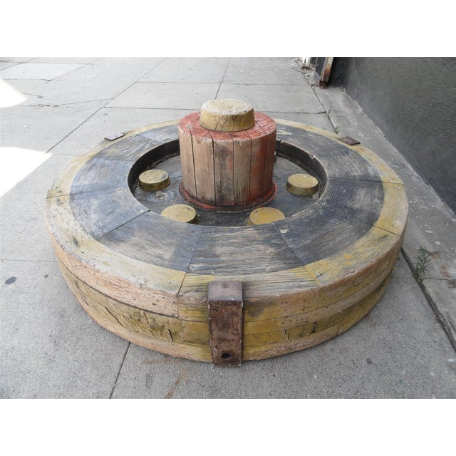 Metal Large Wooden Industrial Gear Mold For Sale - Image 7 of 11