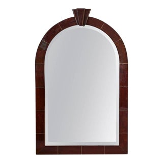 1980s Mid-Century Modern Karl Springer Goatskin Mirror For Sale