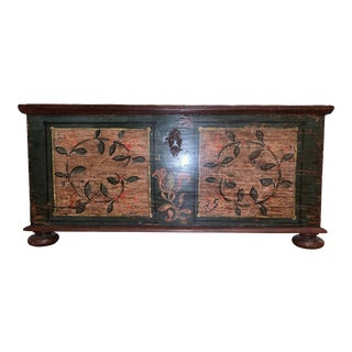 19th C. Painted Continental Kist For Sale