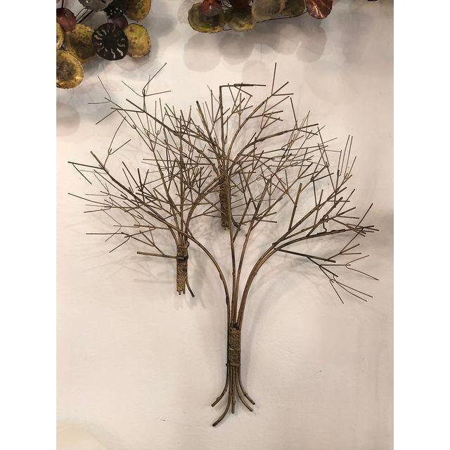 Vintage Metal Tree Wall Art Sculpture For Sale - Image 9 of 11