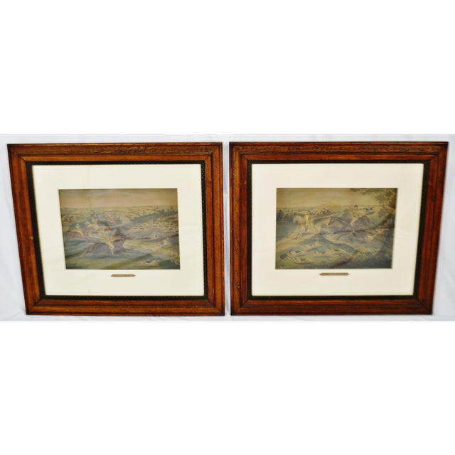 Vintage Framed Hunt Scene Lithographs Full Cry and the Death - a Pair For Sale - Image 13 of 13